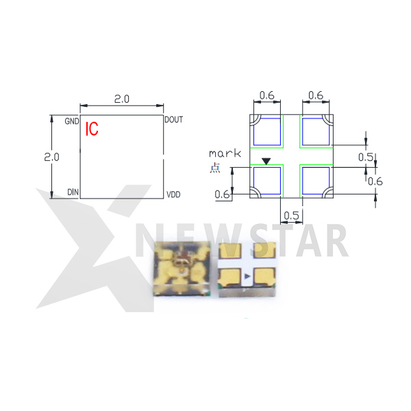 SK6812-2020 RGB Addressable LED Chip