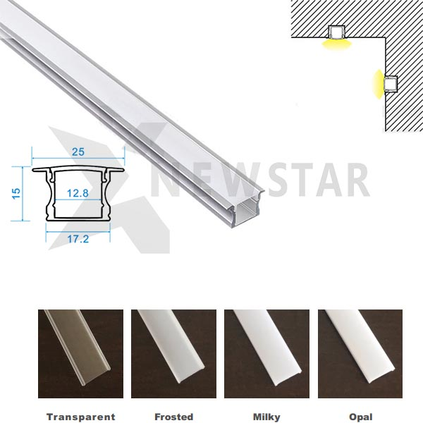 17x15mm LED Aluminum Extrusion