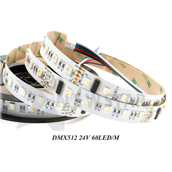 24VDC 60leds 10Pixels DMX512 RGBW LED Tapelights